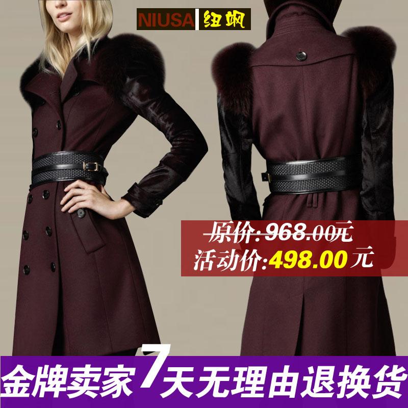 женское пальто gl1208 12 Осень 2012 Длинная модель (80 см<длина изделия ≤ 100 см) Длинный рукав Классический рукав
