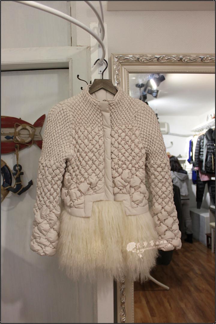 Женская утепленная куртка Хуа Ye Европейская Весна 2013 новый r & v бархат небольших хлопка Подол хлопок платье пальто овец