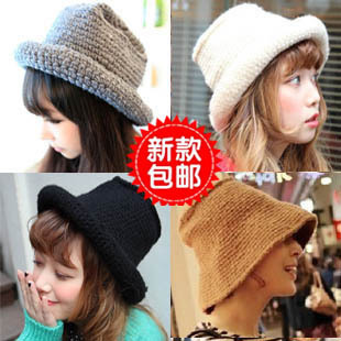 Tide hat Korea purchasing sakura chic fisherman models warm Korean version of knitted hats Miss Mao Xianmao autumn and winter