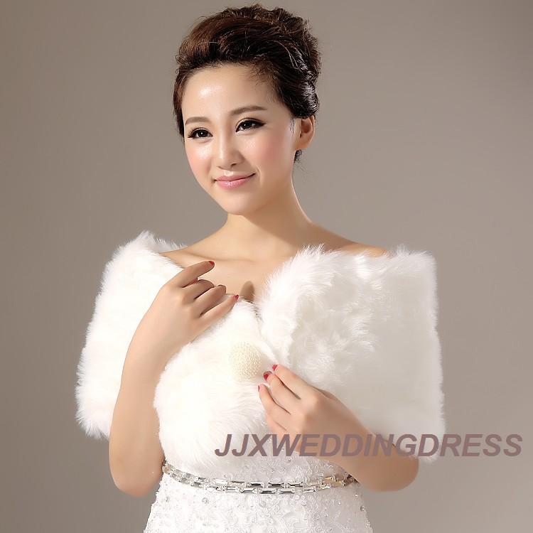 2013新款毛披肩婚纱披肩礼服旗袍伴娘结婚外套新娘披肩白色秋冬季