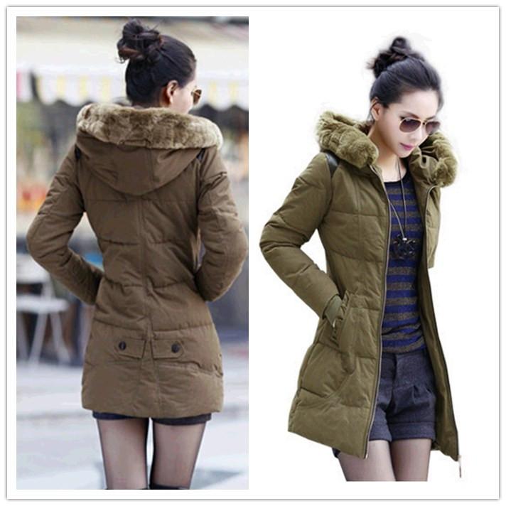 Женская утепленная куртка 6150 2013 Облегающий покрой