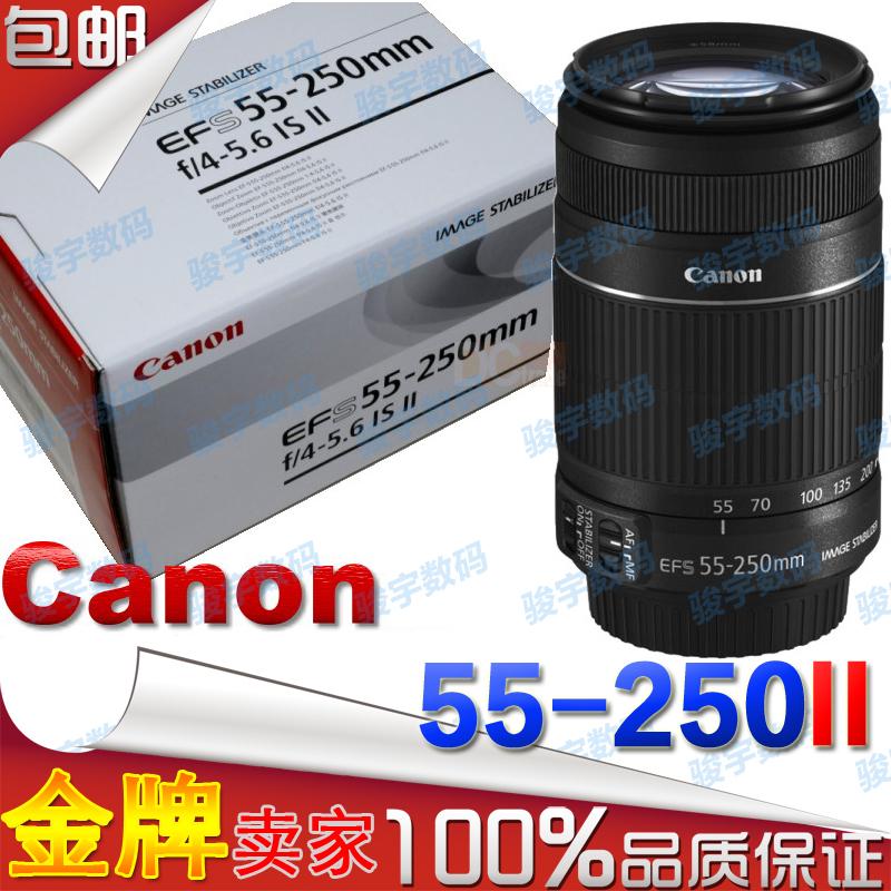 SLR объектив Canon EF-S 55-250 Mm F/4-5.6 IS II Телефото зум Не поддерживает полнокадровой съемки Canon F4.0 55- 250мм