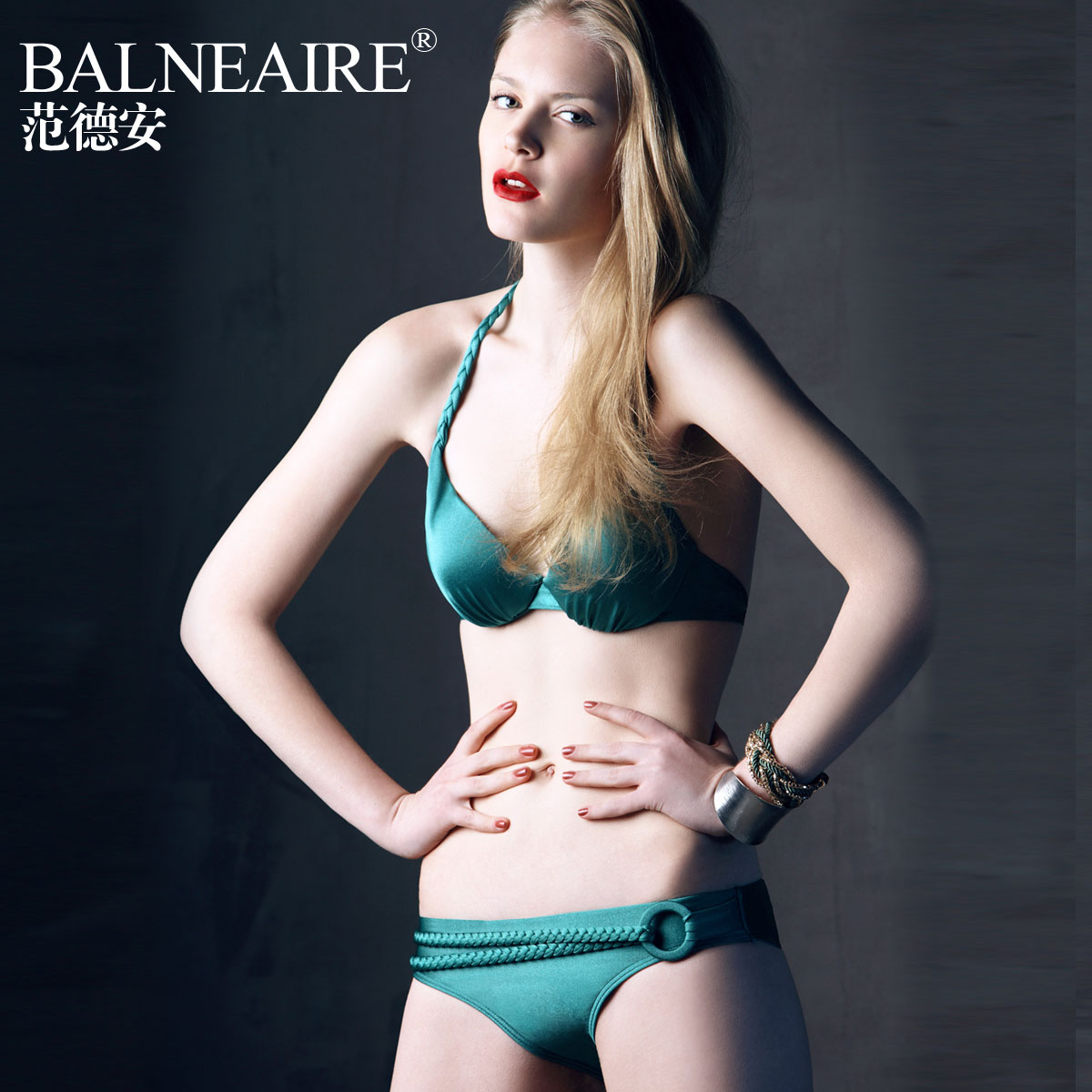 купальник Balneaire 80668 2013 Bikini Нейлон, Спандекс Лиф с косточками Треугольник бикини