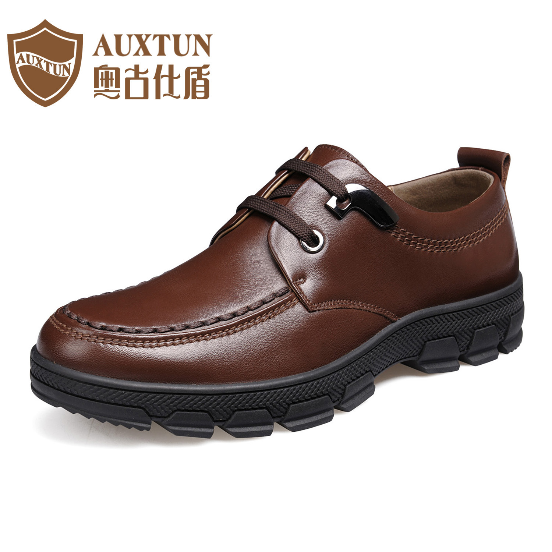 奥古仕盾冬季男士商务正装皮鞋男正品真皮牛皮 低帮休闲皮鞋男鞋