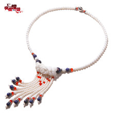 Phoenix Nirvana jewelry necklace female short paragraph clavicle tassels Tridacna original classical Chinese style child wear