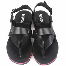 2013 summer new fashion leather men's sandals leather thong Rome Korean version of the British men's tide