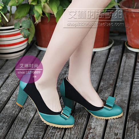 туфли Специальное предложение элегантная подлинные старинные 2013 обувь asakuchi OL грубые каблуки попала цвета пишется женщина качество цвета Широкий каблук Мягкая кожа Искусственная кожа