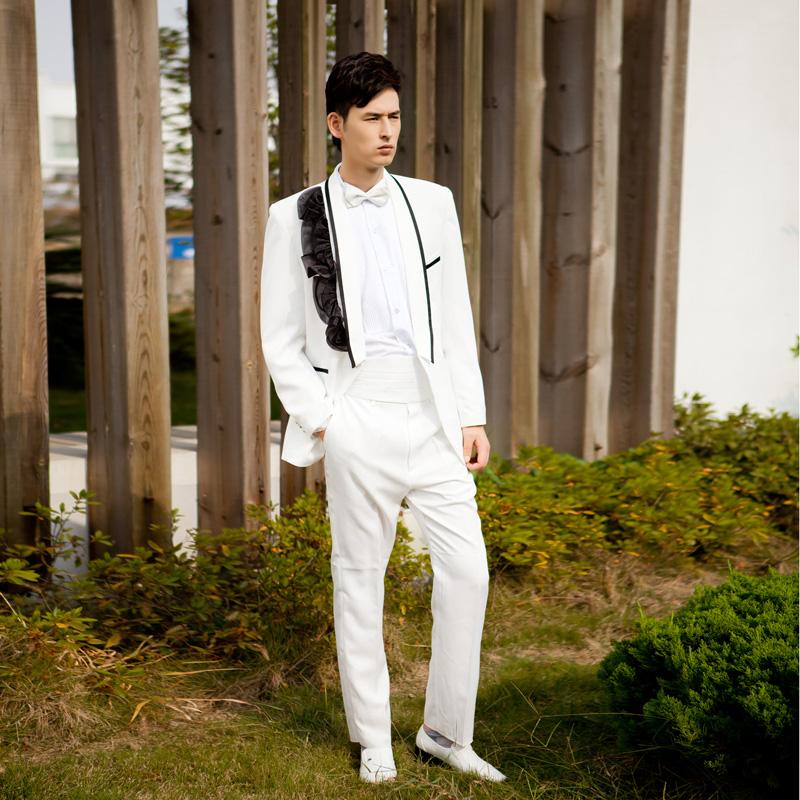 帅气男装韩版男士礼服司仪主持礼服舞台演出大合唱西装演出男套装
