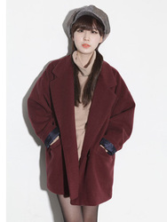 Korean style woolen suit coat woolen coat