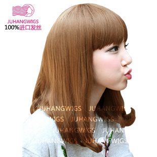 New Poly Air wig pear head wig short hair female short hair wig Liu Qi in volume fluffy wig