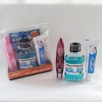 屈臣氏正品 口腔护理旅行套装 牙刷+牙膏+漱口水+洁白牙套