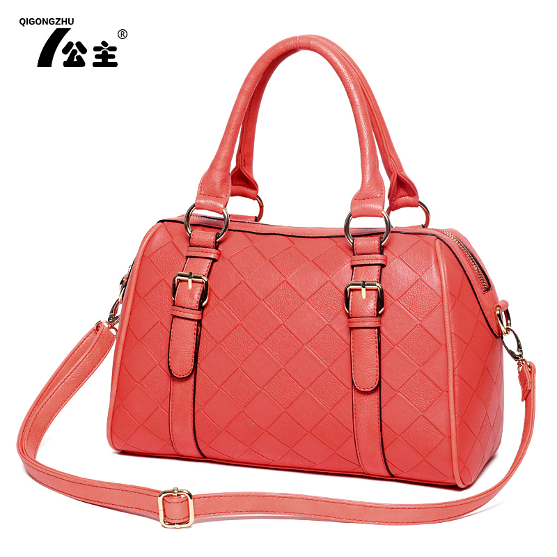 Seven princesses 2013 new tide women for Korean fashion diamond embossed Boston Mobile Messenger bag specials