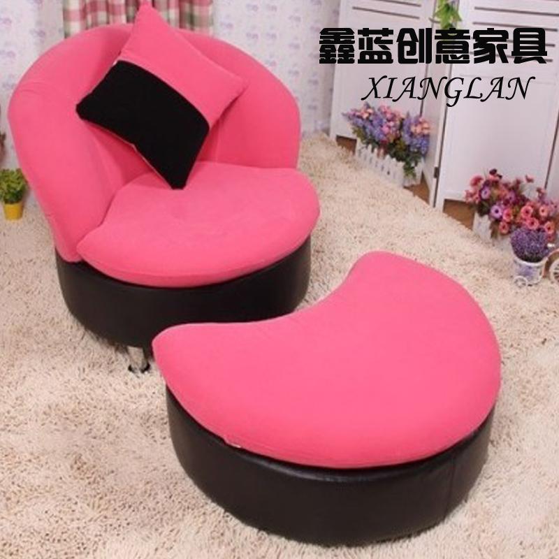 Диван Мода творческих один ленивый диван диван тафтинговые моющиеся малые губы диван Председатель ног Хлопок