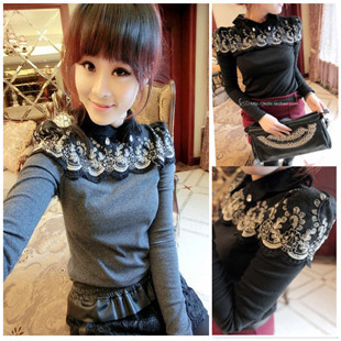 New style high collar lace shirts