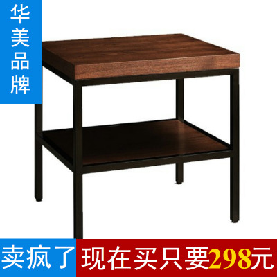 American country vintage wrought iron table Side wood furniture / side table / nightstand / telephone table / coffee table