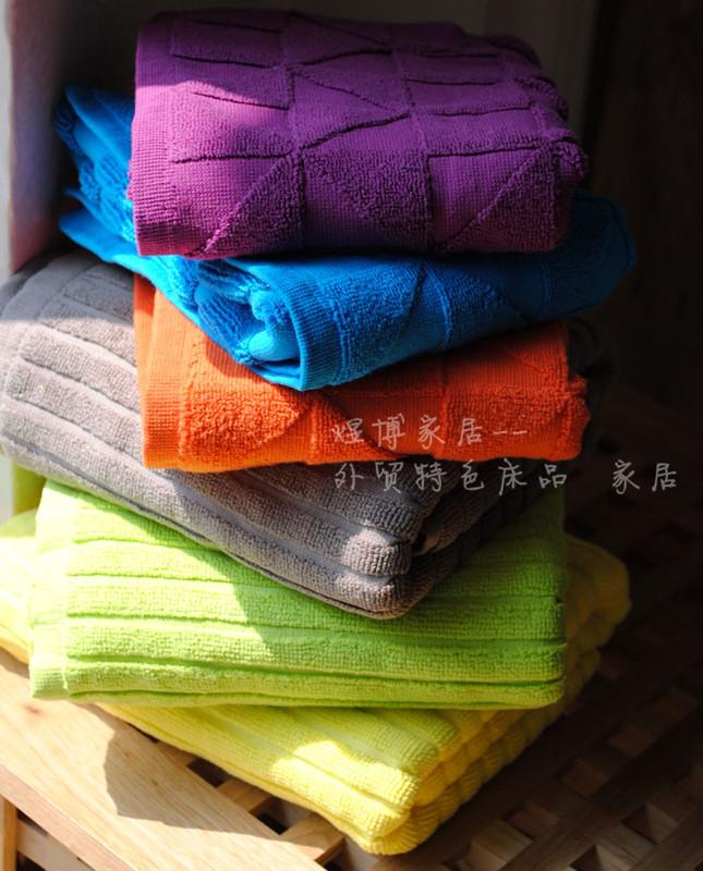 Коврик для ванной 两款质量超好的外贸全棉地垫 2尺寸6色可选 可机洗