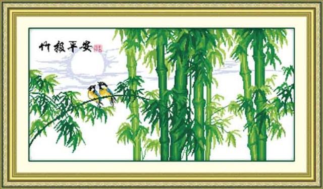印花正品唐唐十字绣客厅卧室房间系列风景大幅大画套件竹报平安