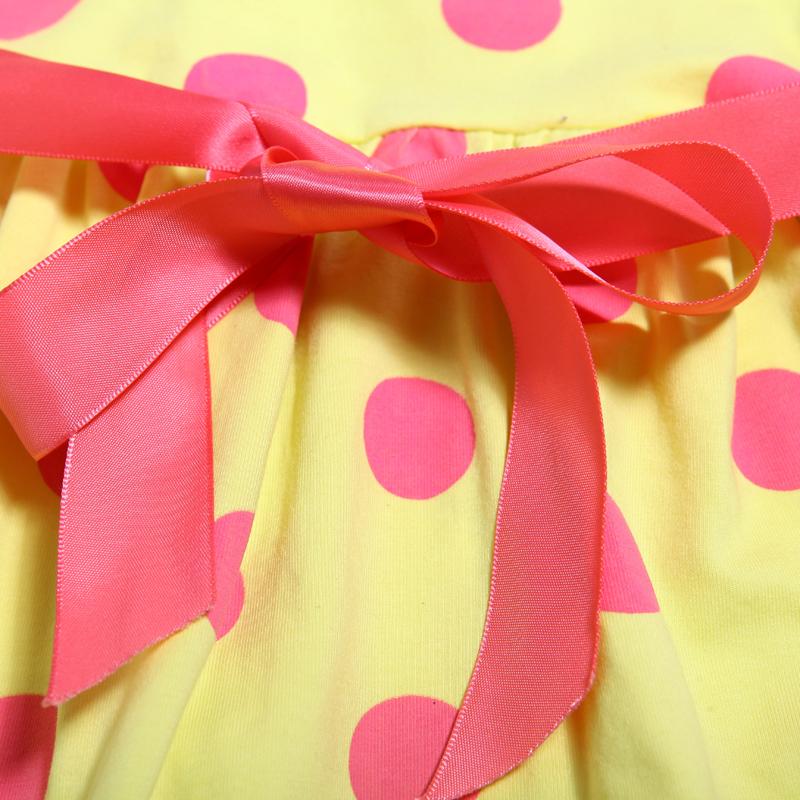 детское платье Aberdeen bear cub 3123 2013 Юбка с ярусами Лето Хлопок (95 и выше) В горошек % Для отдыха