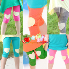 Girls summer 2013 Korean version of combed cotton baby cute love leggings pants five pants Pants