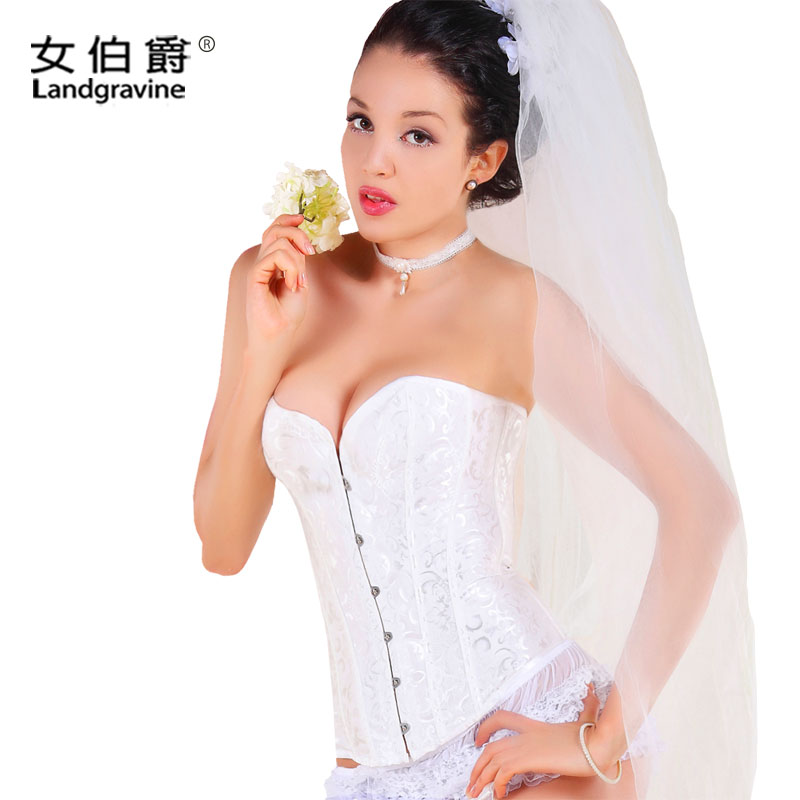 Wedding lingerie bridal lingerie Shushen clothing Palace thin shoulder straps hold chest gathered body sculpting underwear-free wedding fitness clothing