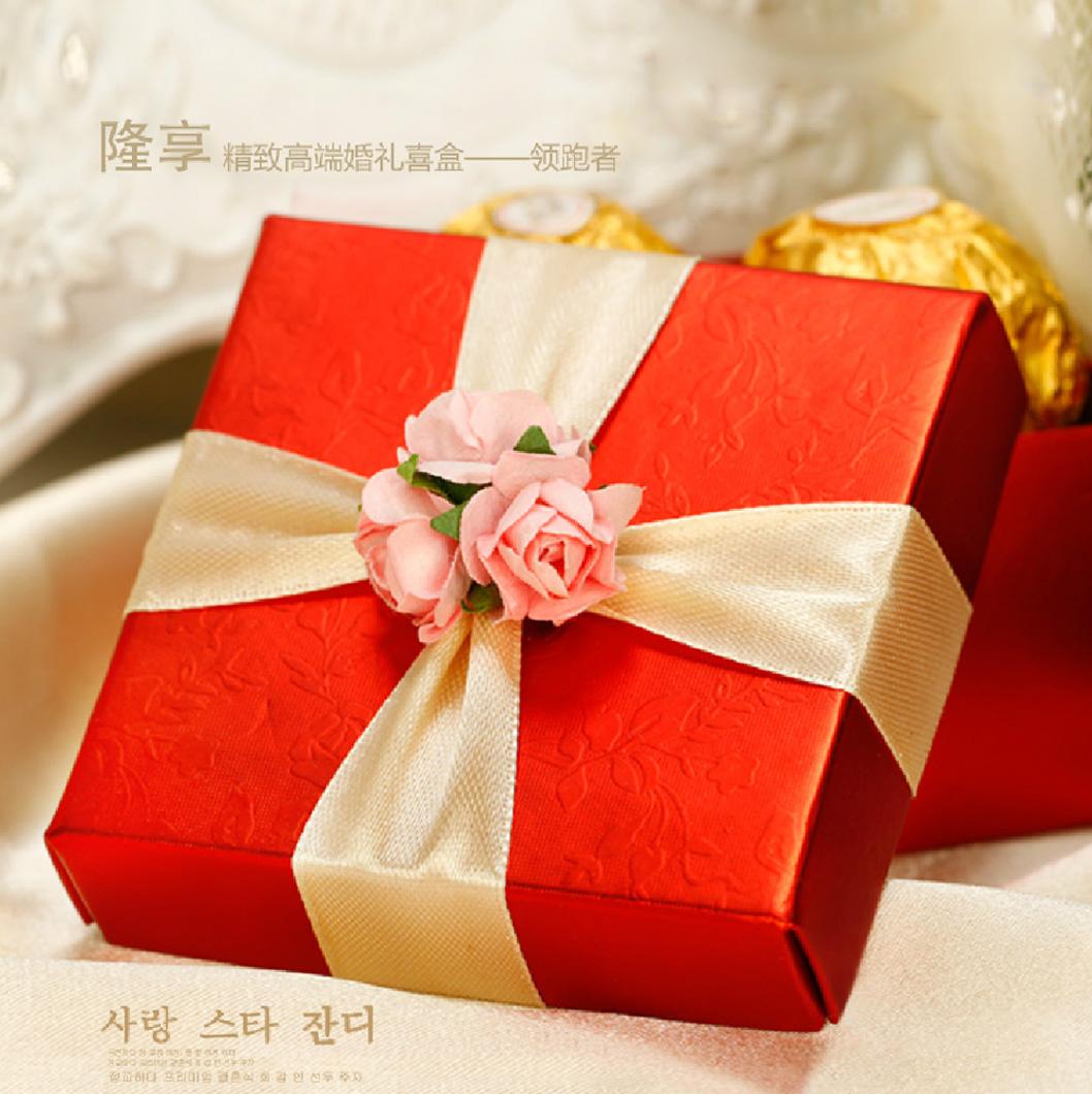 隆享2013婚庆用品喜糖盒子 中韩欧式小花创意糖果礼品盒成品配件