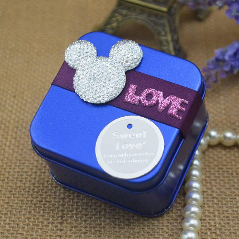 2013新款 满月出生喜糖盒 创意个性可爱喜糖包装盒子铁盒批发