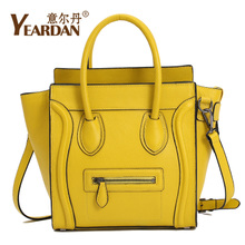 Italian Moldan new spring and summer 2013 new smiley bag handbag women leather handbag leather bag bat bag embarrassing word