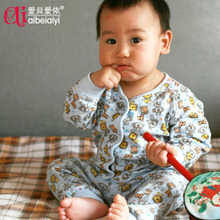 Baby clothing cotton underwear sets baby clothes newborn supplies Qiu Yi Xia Tianqiu fitted pajamas paragraph B
