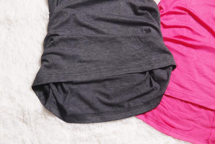 Топ Лето 2012-женщин модальных хлопок тонкий длинный сумка хип положить рукавов жилета в конце долго обратно Однотонный цвет