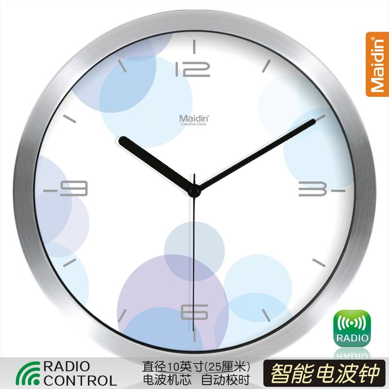 Цвет: Радиоуправляемые часы 10-дюймовый серебро-050