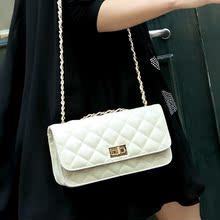 搜酷2013新款糖果色 韩版 车缝线菱格单肩 复古链条斜跨女包包邮