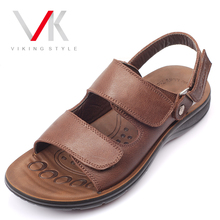 Vikings casual men's sandals men leather sandals leather sandals men sandals men leather Specials tide 91