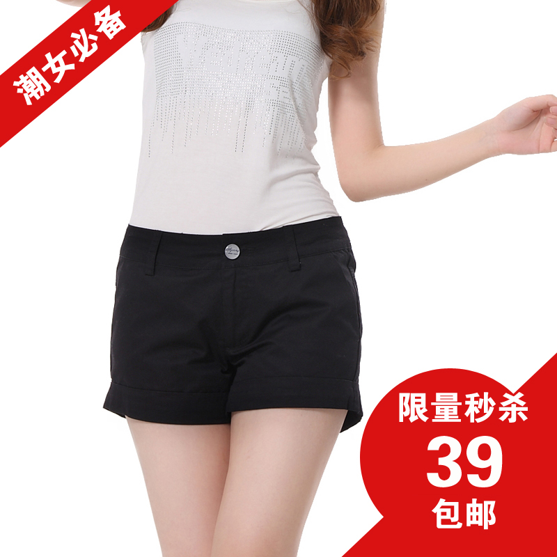 Vanessa casual shorts female summer song wild was thin waist black women shorts female summer 39