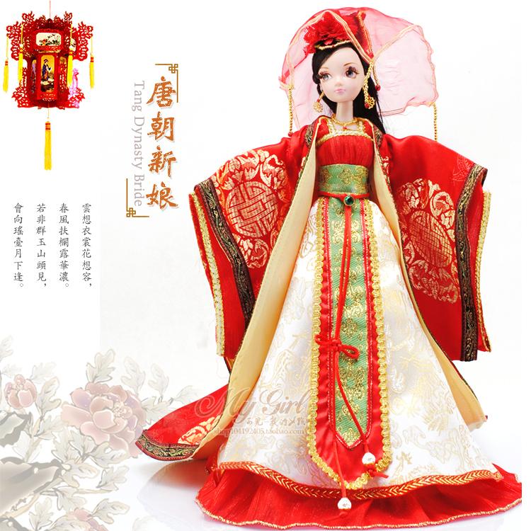 专柜可儿新娘玩具芭比娃娃正品娃娃古装新唐朝娃娃9002包邮木人无涂装积顺丰仔批发图片