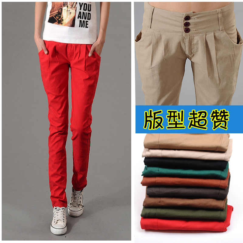2013 new Harlan female summer Korean thin feet pencil trousers pants slim leisure trousers long tidal women's trousers pants
