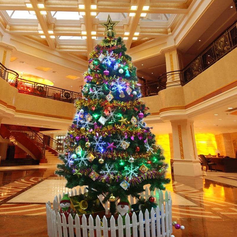 Новогодняя елка 300 деревьев 1,5 м Рождественская елка украшения пакета шифрования для 150 см Рождественская елка