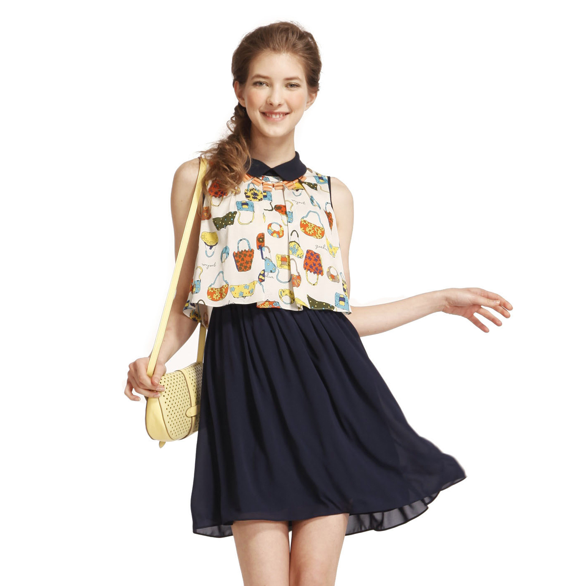 Women summer chiffon dress