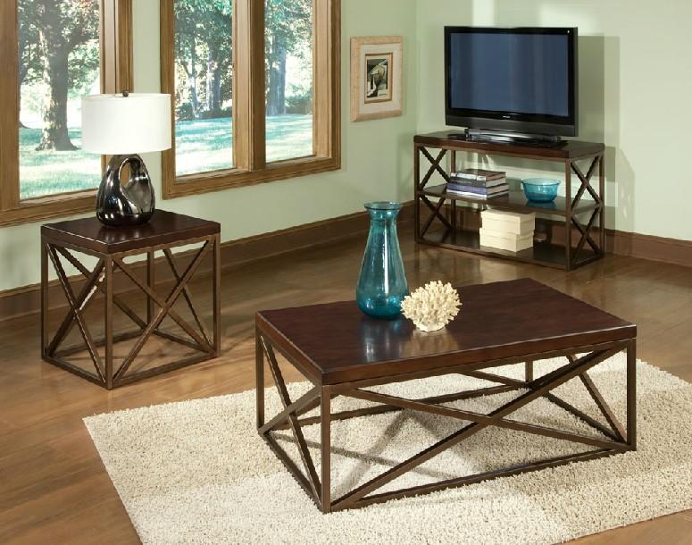 столик Американские кованое железо журнальный столик гостиной терраса случайный угол несколько деревянный прямоугольный диван обратно несколько телевизоров