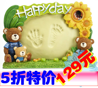 Xidebao my precious baby's Indian Apple, baby, baby hand and foot printing hands hundred days full moon born gifts