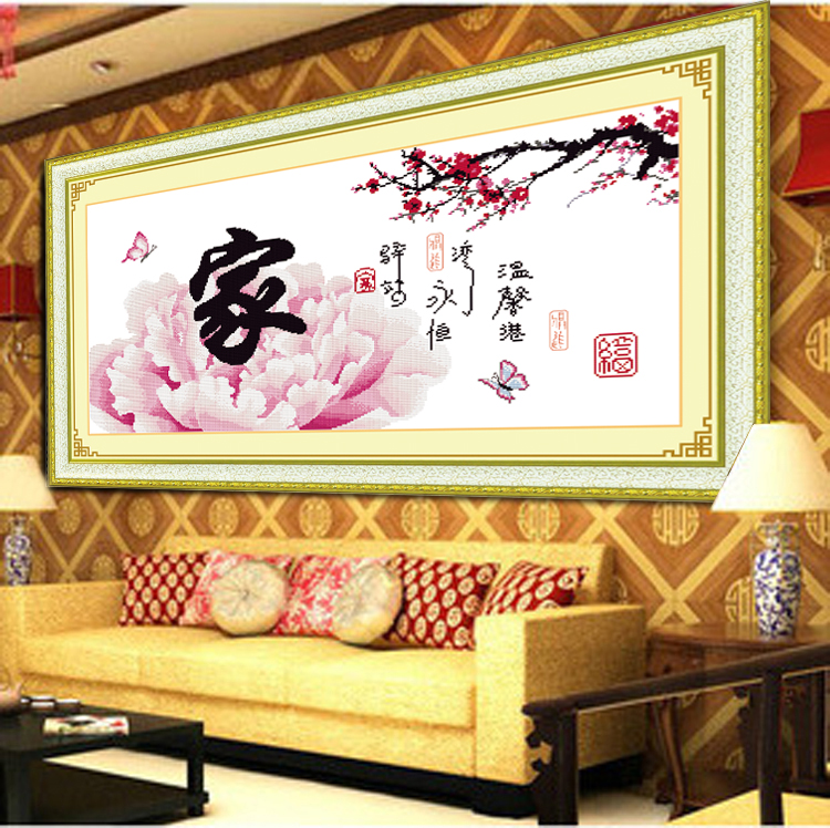 Accurate printed cross stitch and everything most new large living room bedroom flower series 包邮