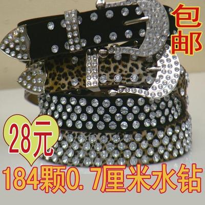 Free shipping diamond drill belt Ms. female Korean fashion diamond decorative waist belt with diamond Women bandwidth