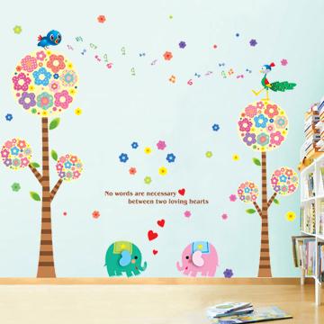 大型背景墙贴纸 儿童房幼儿园装饰贴画卧室客厅电视墙