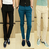 taobao english Spring spring models men's pants Korean fashion Slim trousers, men's casual pants men trousers pants feet