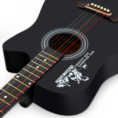 卡摩迩38寸吉他民谣初学者吉他新手入门学生练习吉它男女jita乐器