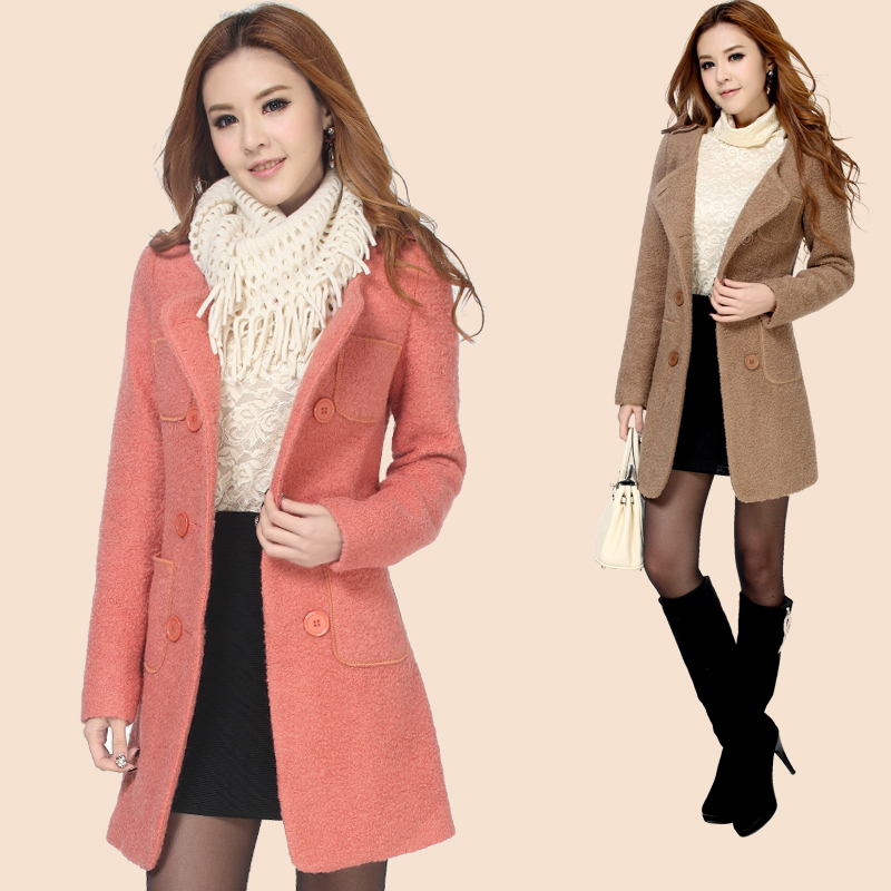 Spring and autumn 2013 new female Korean slim long Barret coat trench Barret coat woolen cloth coat