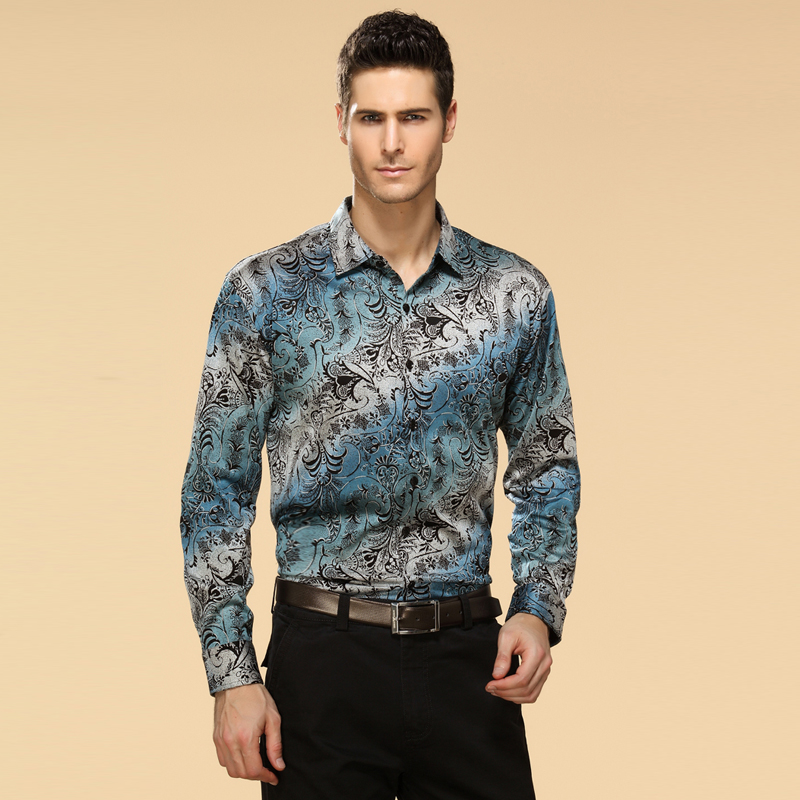 Рубашка мужская Italy Armani 2013 Осень 2013 Стандартный воротник Длинные рукава ( рукава > 57см )