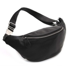 Influx of Korean men cow leather small chest pockets outdoor leisure female bag shoulder bag man bag 3036 influx