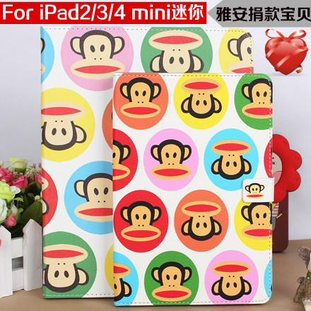 Apple чехол Mouth monkey Mini Ipad4 Ipad3 Ipad2 Mouth monkey Искусственная кожа