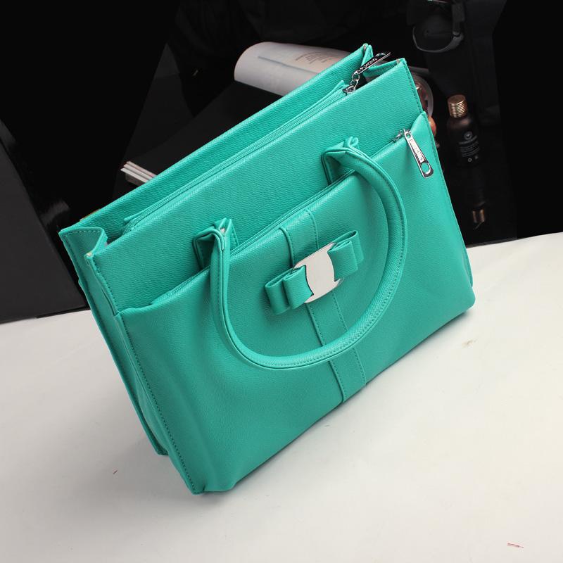 Сумка Документ белых воротничков работу OL девушка небольшой свежий пакет для 2013 зеленый дамы моды кожа Pu мешок с мешком