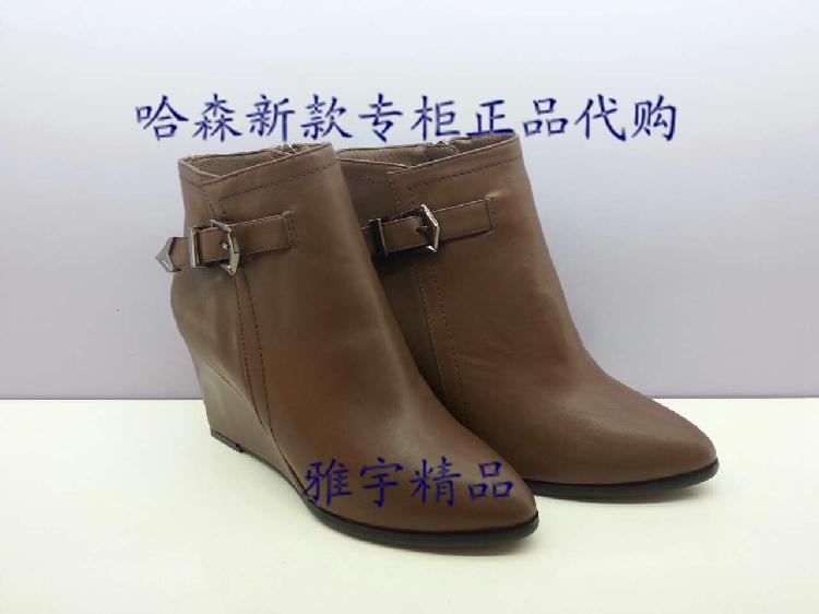 哈森harson2014新款女鞋 专柜正品代购 短靴冬款ha434图片